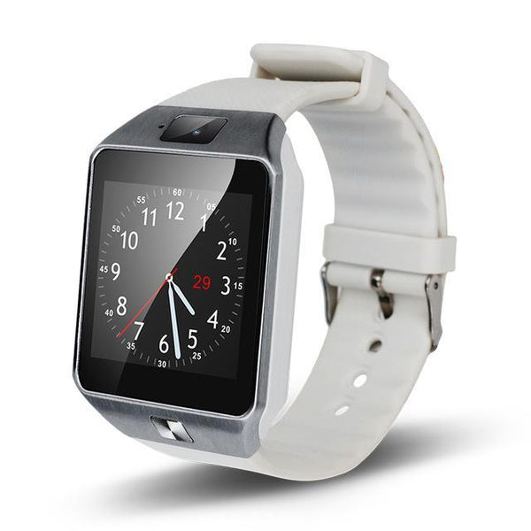 166b25e5b78 HAGA Shop Smart Watches White Bluetooth Smart Watch dz09 Touch Screen  support SIM TF card Camera