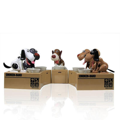 HAGA Shop Toys Black with White Dog Money Bank