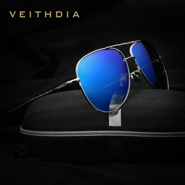 1b5c4ff57ae32 HAGA Shop VEITHDIA Brand Fashion Men s Sun Glasses Polarized Color Mirror  Lens Eyewear Accessories Female Sunglasses