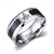 HAGA Shop Vnox Masonic Men Ring Stainless Steel & Carbon Fiber 8mm Punk Male Jewelry US size 4 5 6 7 8 9 10 11 12