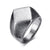 HAGA Shop Vnox Punk Chunky Flat Rhombus Top Thumb Ring For Men Fraternal Band Stainless Steel Retro Viking Male Jewelry Rock Hiphop Bijoux