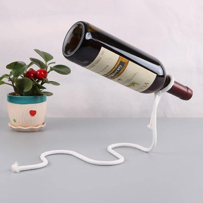 HAGA Shop White hemp rope Chain Bottle Holder