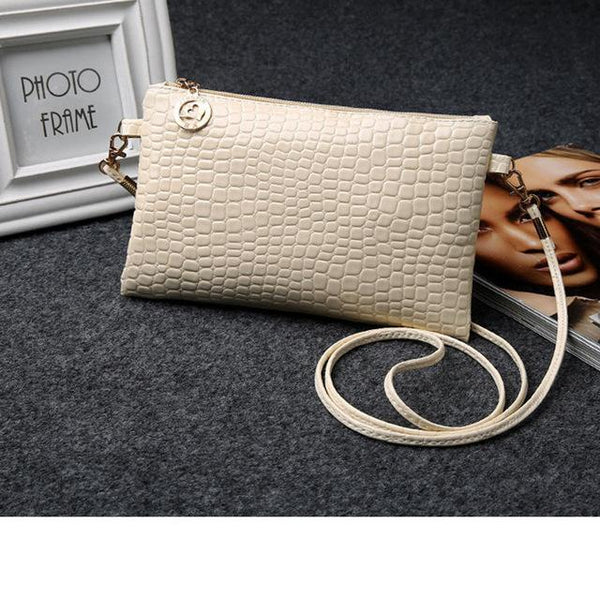 HAGA Shop Women's Bags Beige / (20cm<Max Length<30cm) New Arrival Women Fashion Style PU Leather Handbag Cutches Shoulder Bags Cross-body