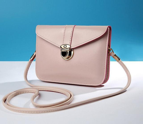 HAGA Shop Women's Bags Beige / Mini(Max Length<20cm) New Arrival Women Vintage Leather Handbag Cross-body Clutch Messenger Bag