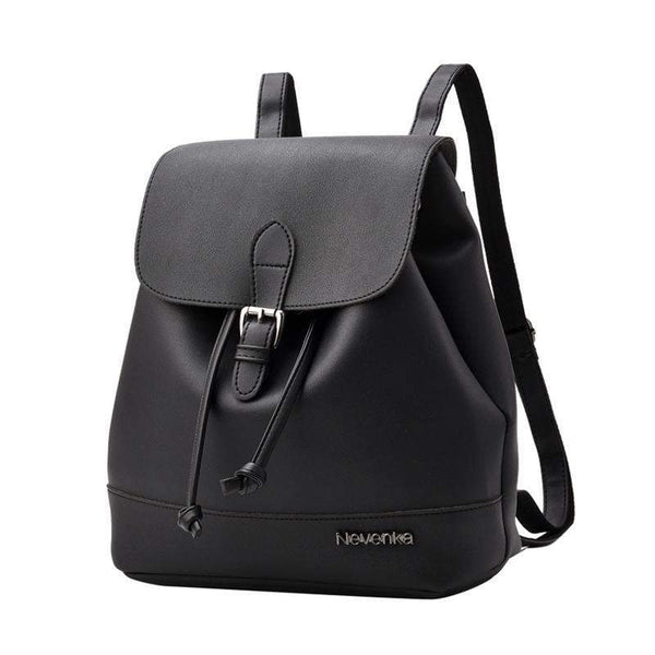 HAGA Shop Women's Bags Black Fashion Women Casual Brand Design Leather Backpacks