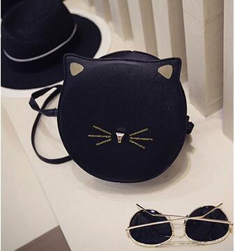 HAGA Shop Women's Bags Black / Mini(Max Length<20cm) Women Cat Shape Cross-body Bags Cute Messenger Shoulder Bag New Fashion Printing
