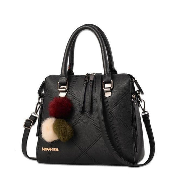 HAGA Shop Women's Bags Black Women Bag Network Casual Tote Evening Bags Fashion Leather Lady Bag Top-Handle
