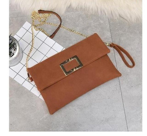 HAGA Shop Women's Bags Brown / 29x19x2cm Classic Women Clutches Leather Shoulder Bag