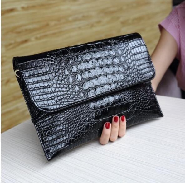 HAGA Shop Women's Bags Day Clutches 1 / 30x20cm Women Luxury Clutches Bags Alligator Leather Cross-body Bags