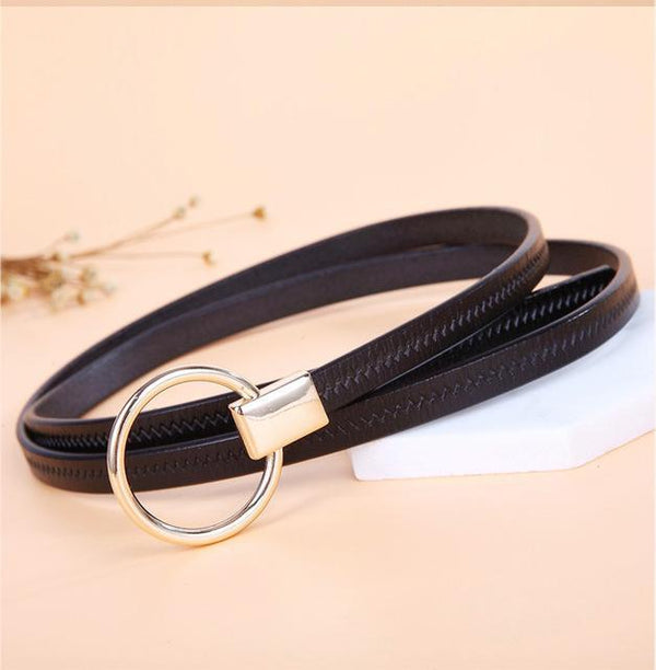 HAGA Shop Women's Belts black Good Women Belts Genuine Leather Pin Buckle Vintage Style