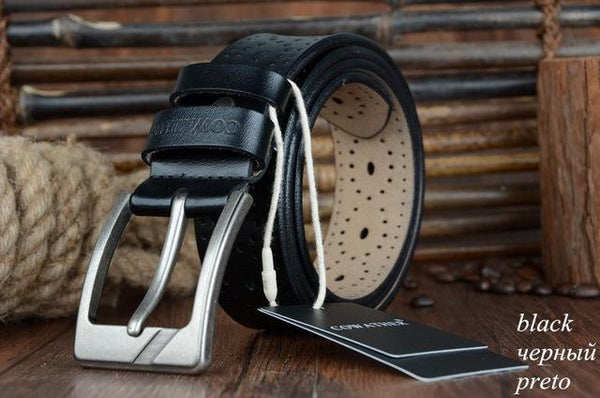 HAGA Shop Women's Belts XF007 black / 100cm Women Belts New Hollow Design High Quality Genuine Leather