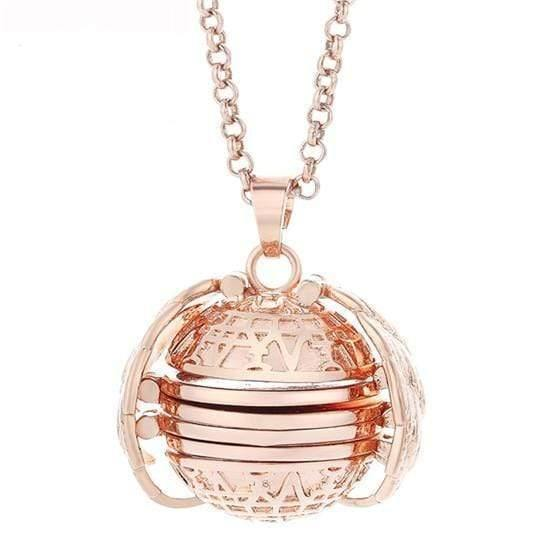 HAGA Shop Women's Jewelry rose gold color Expanding Photo Locket