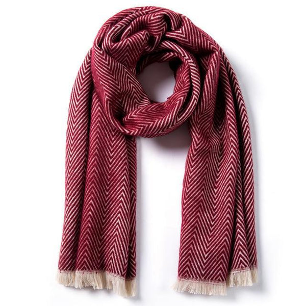 HAGA Shop Women's Scarves 01 / 185cmX65cm Famous Women Brand Winter Scarf Cotton Cape Thicken Warm Soft Shawls