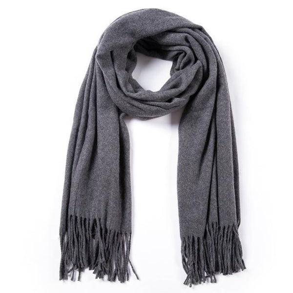 HAGA Shop Women's Scarves 01 / 188cmX65cm Women High Quality Winter Wool Scarf Large Shawls and Wraps Soft Foulard