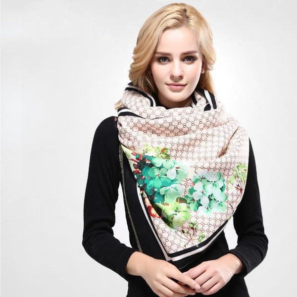 HAGA Shop Women's Scarves 01 / China / 185CM X 65CM Newest Design Women Winter Wool Scarf Printing Shawls And Scarves Warm Wrap