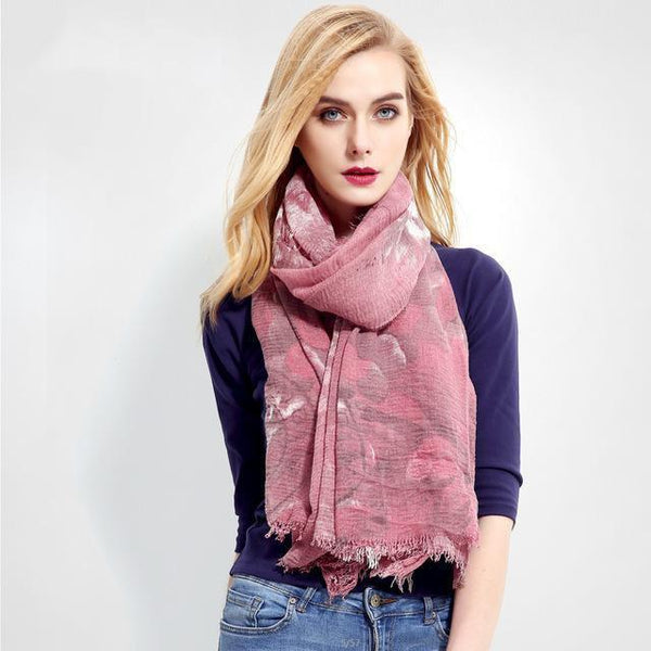 HAGA Shop Women's Scarves 01 Fashion Women Cotton Scarf Luxury Brand Mujer Shawl Soft Foulard