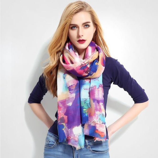 HAGA Shop Women's Scarves 01 New Design Women Cotton Scarf Luxury Brand Shawl Large Size Foulard