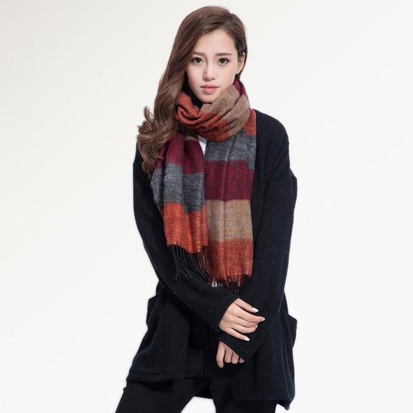 HAGA Shop Women's Scarves 01 Women Fashion Brand Winter Scarf Shawls and Scarves Soft Foulard