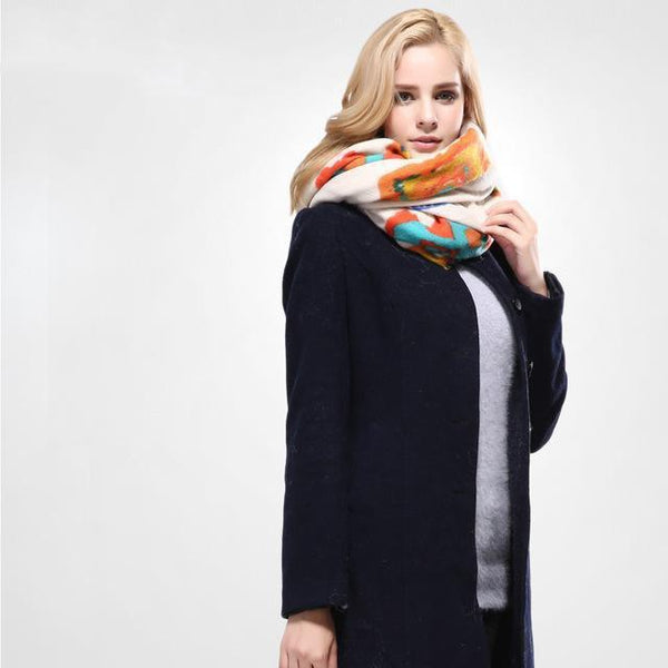 HAGA Shop Women's Scarves 02 / 135CM X 135CM European Style Women Winter Scarf Warm Wrap Brand Shawls And Scarves