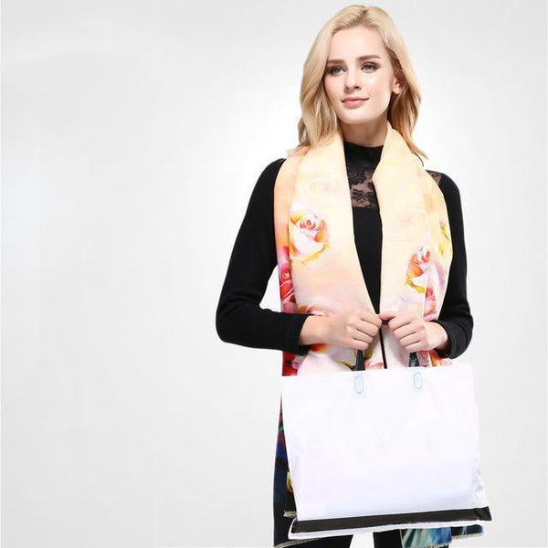 HAGA Shop Women's Scarves 04 / 185CM X 65CM New Women Scarf Digital Printing Flowers Scarves Thicken Warm Shawls Wool Cashmere