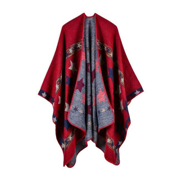 HAGA Shop Women's Scarves Color No 1 Hot Sale Women Winter Scarf Extra Long Ponchos and Capes Fashion Scarves