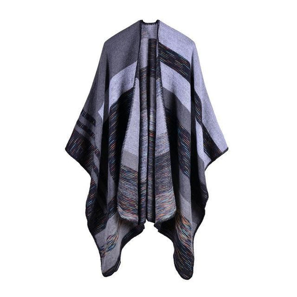 HAGA Shop Women's Scarves Color No 1 Hot Sale Women Winter Thick Cashmere Feel Poncho Scarf Pashmina Warm Cape