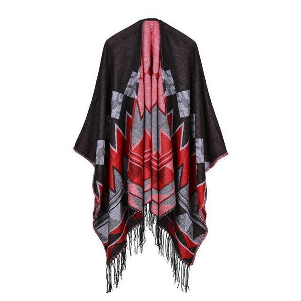 HAGA Shop Women's Scarves Color No 1 New Arrival Women Retro Ponchos and Capes Winter Scarf Brand Cashmere