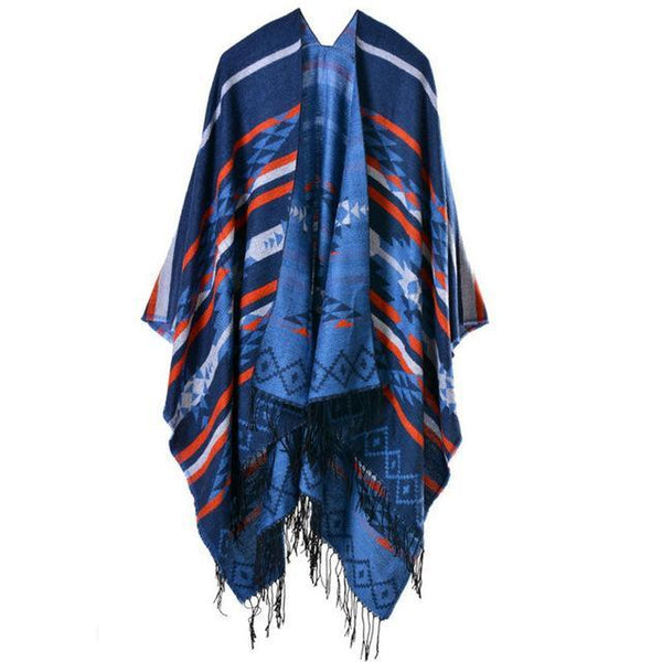 HAGA Shop Women's Scarves Color No 1 New Arrival Women Winter Blanket Poncho Cape Warm Scarves Cashmere