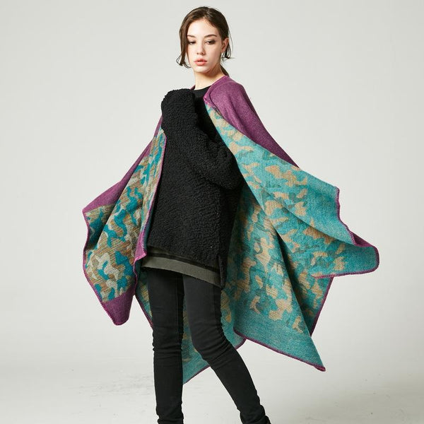 New Arrival Women Winter Long Scarf Shawls Thick Ponchos And Capes