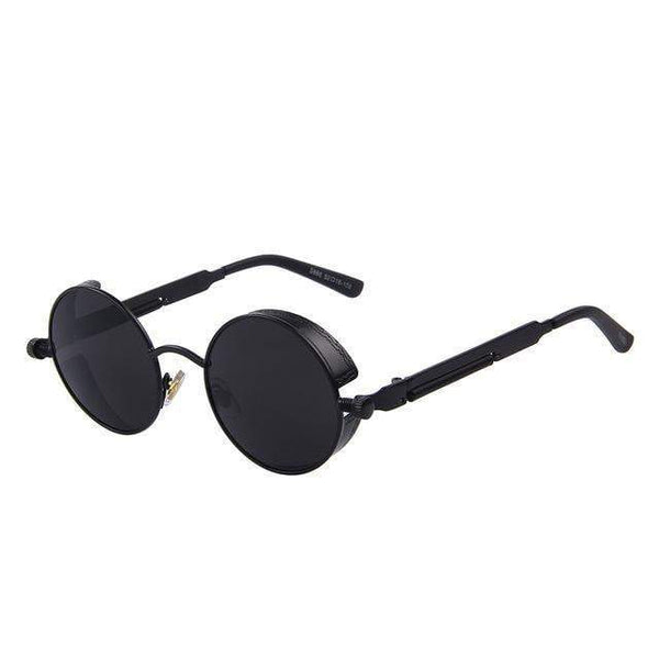 HAGA Shop Women's Sunglasses C01 Black Black Vintage Women Steampunk Sunglasses