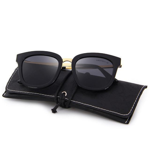 HAGA Shop Women's Sunglasses C01 Black Cat Eye Polarized Sunglasses