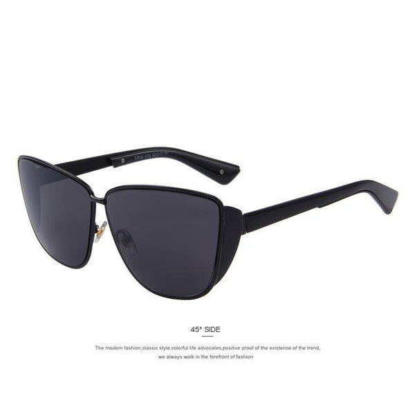 HAGA Shop Women's Sunglasses C01 Black Cat Eye Sunglasses UV400