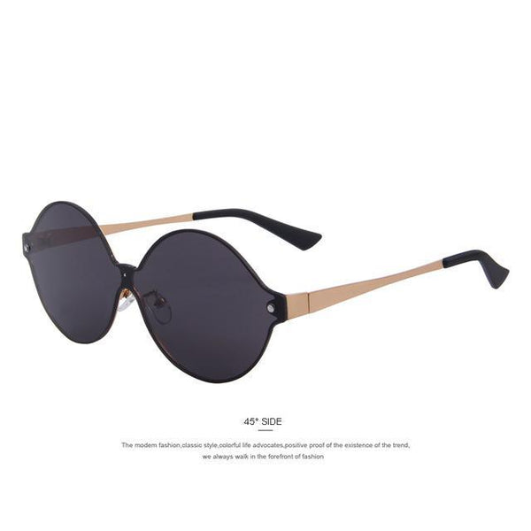 HAGA Shop Women's Sunglasses C01 Black Fashion Women Round Sunglasses