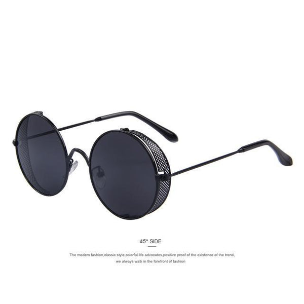 HAGA Shop Women's Sunglasses C01 Black Fashion Women Sunglasses Classic Round Steampunk Shades