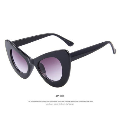 HAGA Shop Women's Sunglasses C01 Black Women Retro Cat Eye Sunglasses