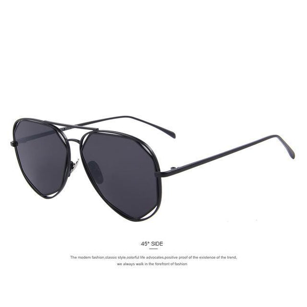 HAGA Shop Women's Sunglasses C01 Black Women Sunglasses Classic Twin-Beams