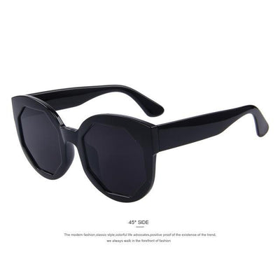 HAGA Shop Women's Sunglasses C01 Black Women Sunglasses Polygon Lens Cat Eye Shades Candy Color