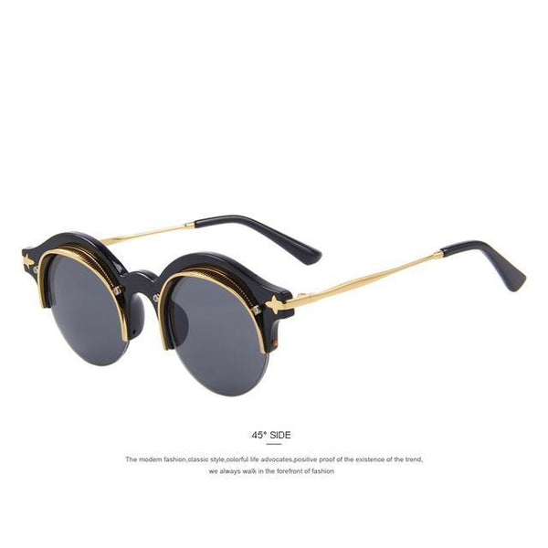 HAGA Shop Women's Sunglasses C01 Black Women Sunglasses Retro Round