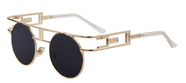 HAGA Shop Women's Sunglasses C01 Gold Black Fashion Women Brand Designer Unique Gothic Sunglasses