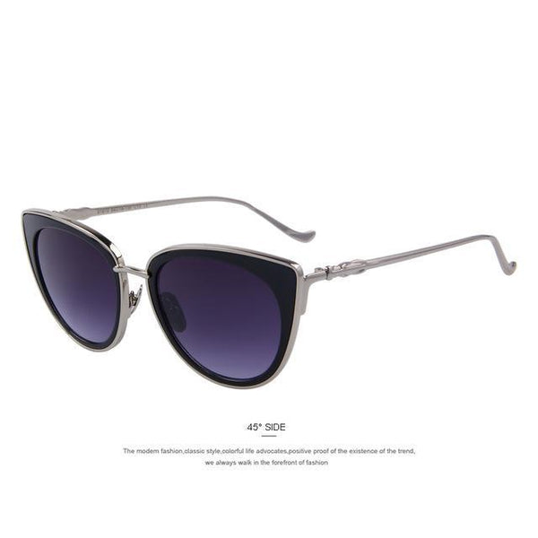 HAGA Shop Women's Sunglasses C01 Gray Women Cat Eye Sunglasses with Alloy Frame
