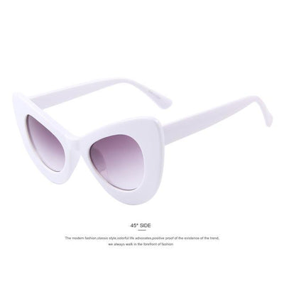 HAGA Shop Women's Sunglasses C02 White Women Retro Cat Eye Sunglasses