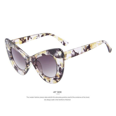 HAGA Shop Women's Sunglasses C05 Yellow Women Retro Cat Eye Sunglasses