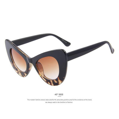 HAGA Shop Women's Sunglasses C06 Leopard Women Retro Cat Eye Sunglasses