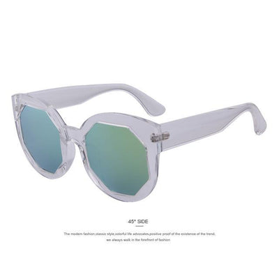 HAGA Shop Women's Sunglasses C07 Transparent Women Sunglasses Polygon Lens Cat Eye Shades Candy Color