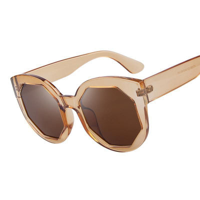 HAGA Shop Women's Sunglasses Women Sunglasses Polygon Lens Cat Eye Shades Candy Color