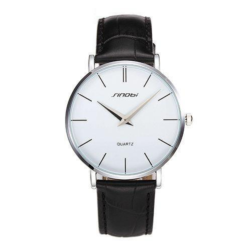 HAGA Shop Women's Watches 11S9140G01 / China Super Slim Quartz Wristwatch Males Business Genuine Leather Casual Quartz Watches Men and Women's 2017 Clocks Relojes