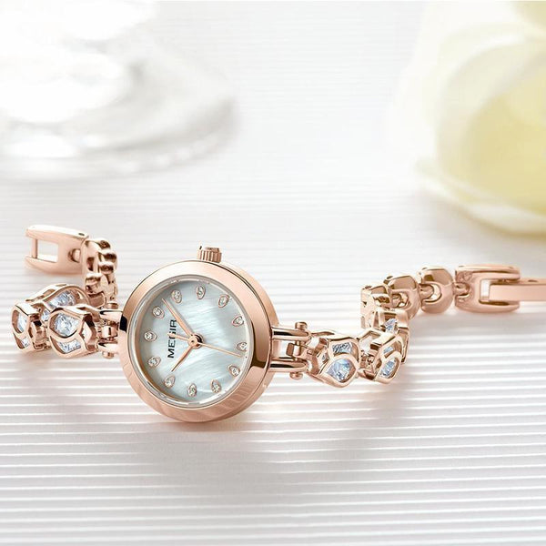 HAGA Shop Women's Watches Luxury Women Bracelet Watches Relogio Feminino Top Brand Rose Gold Fashion Dress