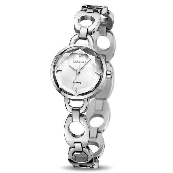 HAGA Shop Women's Watches Silver Women Bracelet Watch Rose Gold Alloy Quartz Women Watches