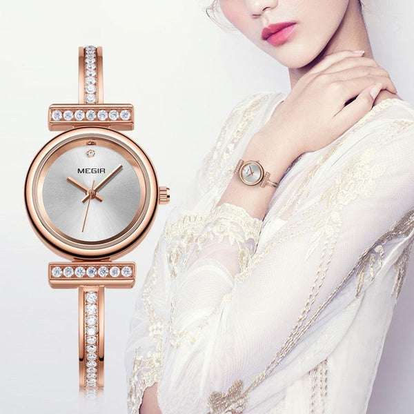 HAGA Shop Women's Watches Women Bracelet Watch Relogio Feminino Brass Ladies Quartz Watches