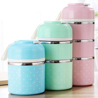 HAGA Shop WORTHBUY Cute Japanese Thermal Lunch Box Leak-Proof Stainless Steel Bento Box Kids Portable Picnic School Food Container Box